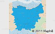 Political Map of Oost-Vlaanderen, lighten