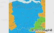 Political Map of Oost-Vlaanderen