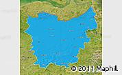 Political Map of Oost-Vlaanderen, satellite outside