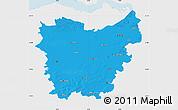 Political Map of Oost-Vlaanderen, single color outside
