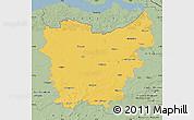 Savanna Style Map of Oost-Vlaanderen