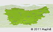 Physical Panoramic Map of Oost-Vlaanderen, lighten