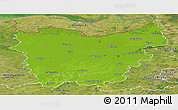 Physical Panoramic Map of Oost-Vlaanderen, satellite outside