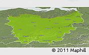 Physical Panoramic Map of Oost-Vlaanderen, semi-desaturated