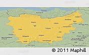 Savanna Style Panoramic Map of Oost-Vlaanderen