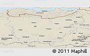 Shaded Relief Panoramic Map of Oost-Vlaanderen