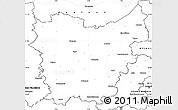 Blank Simple Map of Oost-Vlaanderen