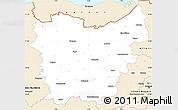 Classic Style Simple Map of Oost-Vlaanderen