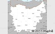Gray Simple Map of Oost-Vlaanderen