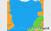 Political Simple Map of Oost-Vlaanderen
