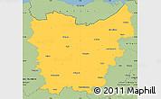 Savanna Style Simple Map of Oost-Vlaanderen