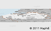 Gray Panoramic Map of Vlaanderen