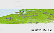 Physical Panoramic Map of Vlaanderen
