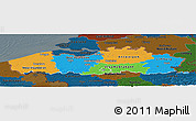 Political Panoramic Map of Vlaanderen, darken
