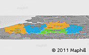 Political Panoramic Map of Vlaanderen, desaturated