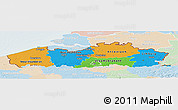Political Panoramic Map of Vlaanderen, lighten