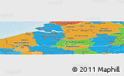 Political Panoramic Map of Vlaanderen