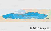 Political Shades Panoramic Map of Vlaanderen, lighten