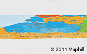 Political Shades Panoramic Map of Vlaanderen