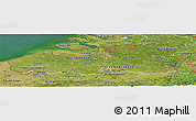 Satellite Panoramic Map of Vlaanderen