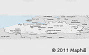 Silver Style Panoramic Map of Vlaanderen