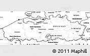 Blank Simple Map of Vlaanderen