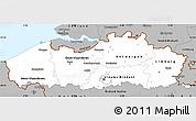 Gray Simple Map of Vlaanderen