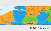 Political Simple Map of Vlaanderen