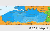 Political Shades Simple Map of Vlaanderen