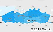 Political Shades Simple Map of Vlaanderen, single color outside