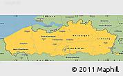 Savanna Style Simple Map of Vlaanderen