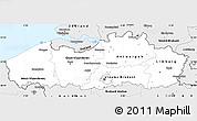 Silver Style Simple Map of Vlaanderen