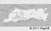 Gray 3D Map of Vlaams Brabant