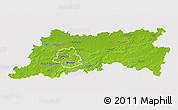 Physical 3D Map of Vlaams Brabant, cropped outside