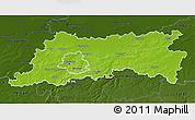Physical 3D Map of Vlaams Brabant, darken