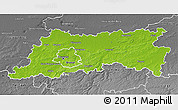 Physical 3D Map of Vlaams Brabant, desaturated
