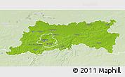 Physical 3D Map of Vlaams Brabant, lighten