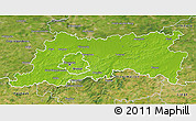 Physical 3D Map of Vlaams Brabant, satellite outside