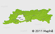 Physical 3D Map of Vlaams Brabant, single color outside
