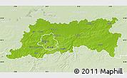 Physical Map of Vlaams Brabant, lighten