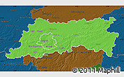 Political Map of Vlaams Brabant, darken