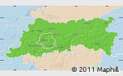 Political Map of Vlaams Brabant, lighten