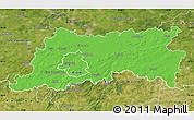 Political Map of Vlaams Brabant, satellite outside
