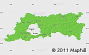 Political Map of Vlaams Brabant, single color outside