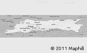 Gray Panoramic Map of Vlaams Brabant