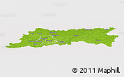 Physical Panoramic Map of Vlaams Brabant, cropped outside