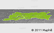 Physical Panoramic Map of Vlaams Brabant, desaturated