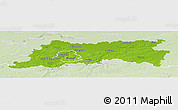 Physical Panoramic Map of Vlaams Brabant, lighten