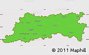 Political Simple Map of Vlaams Brabant, cropped outside