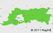 Political Simple Map of Vlaams Brabant, single color outside